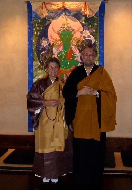 Roshi Joan Halifax and Sensei Al Genkai Kaszniak